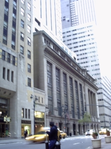 BXH Bank building, Manhattan, vehicle entrance visible under the arch. Image © LP O'Bryan